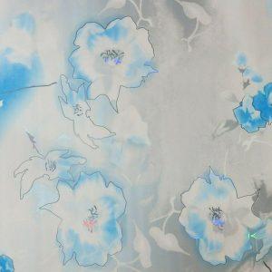 دیوارپوش H-1 (گلدار آبی)