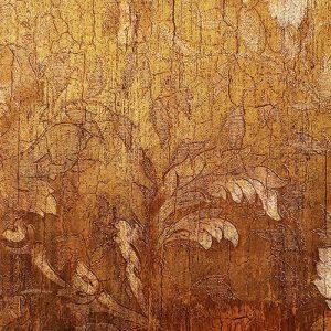 دیوارپوش روکش دار برگ طلایی