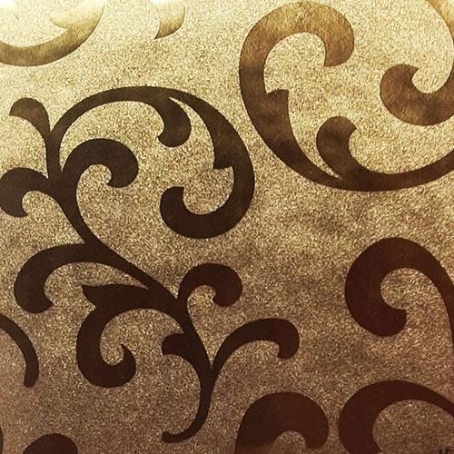 دیوارپوش پیچک مدرن طلایی (008)