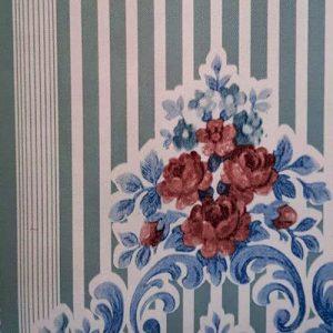 دیوارپوش روکش دار پیچک آبی