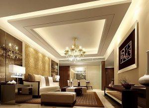طراحی سقف کاذب برای اتاق نشیمن